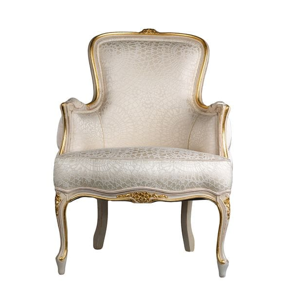 Кресло LOTTI белое / золотое