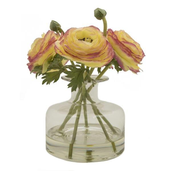 Композиция из искусственных цветов в вазе ЛЮТИКИ