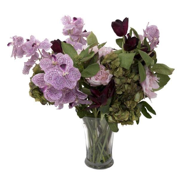 Композиция из искусственных цветов в вазе ПИОНЫ И ГОРТЕНЗИИ