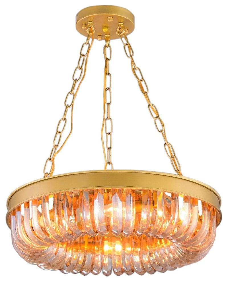 Люстра Terra gold amber D50