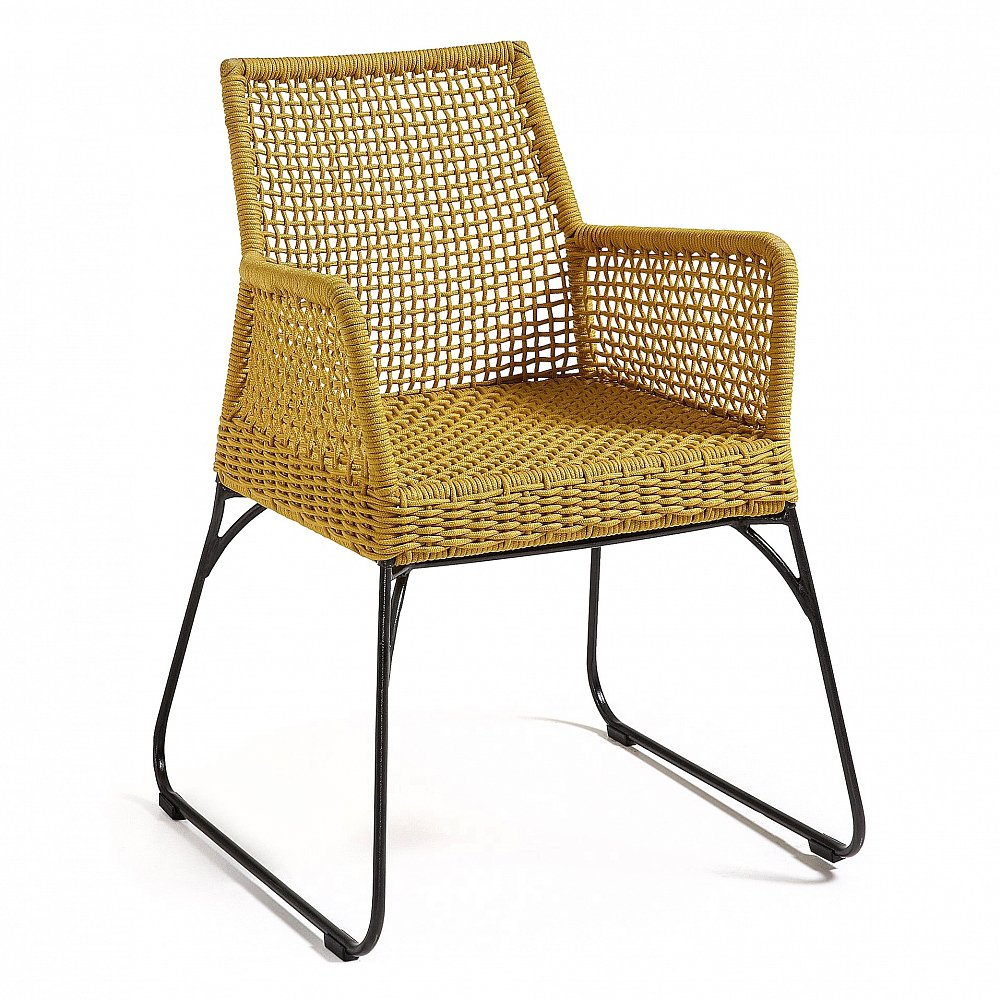 Кресло желтое Novak от La Forma (ex Julia Grup)