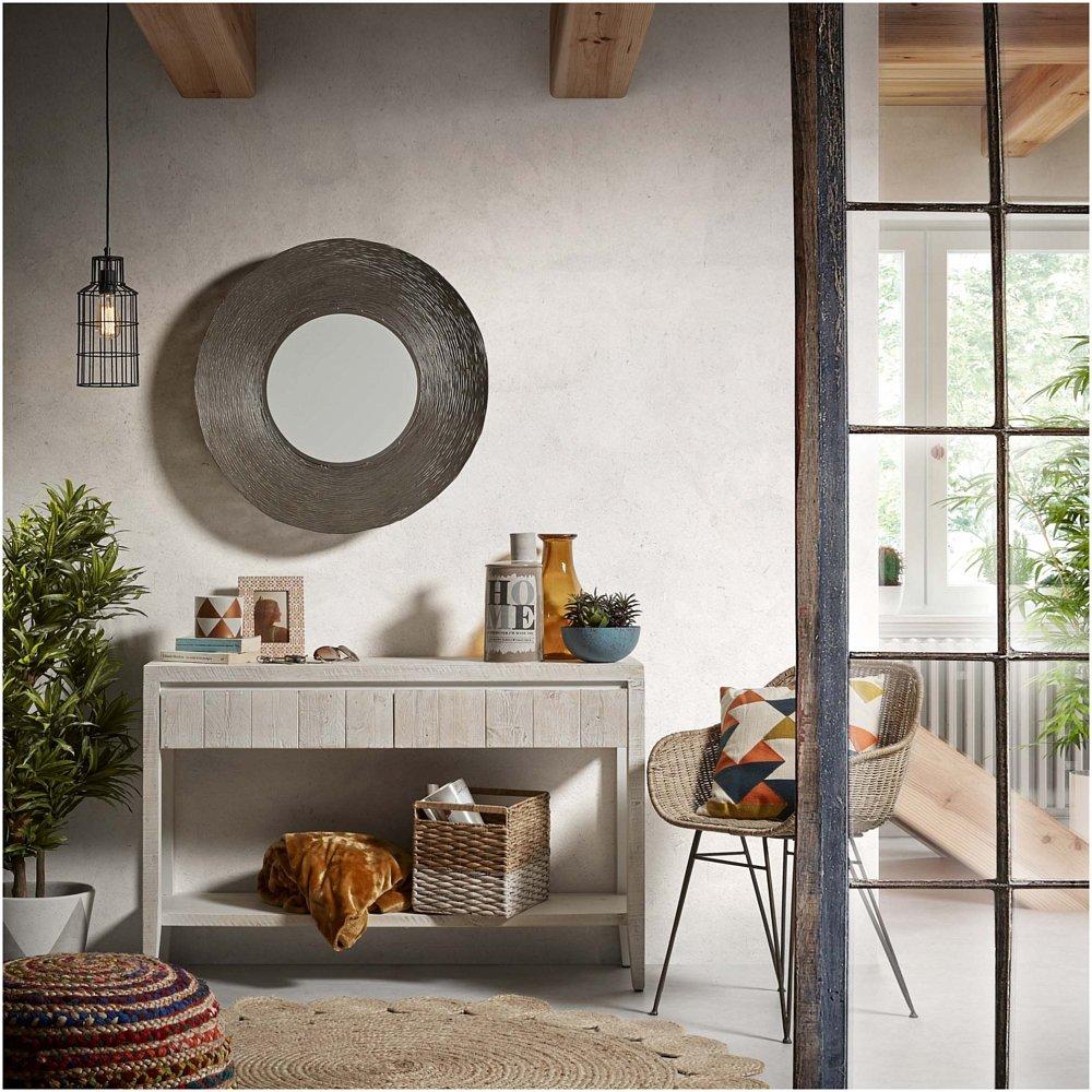 Кресло CHARLEY металлическое серое, натуральный ротанг от La Forma (ex Julia Grup)
