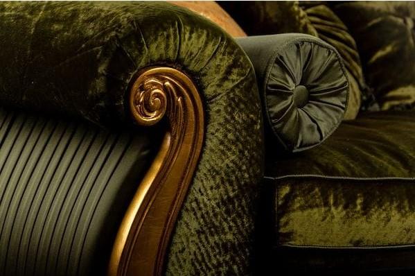 Кушетка STRADIVARI (левая) зелёная