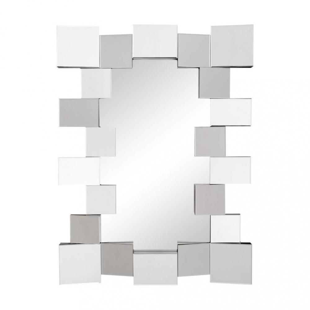 Зеркало MercadoЗеркала<br>Оригинальное зеркало способно создать <br>настроение, впечатление, подчеркнуть или <br>полностью изменить интерьер вашего дома. <br>Зеркало Mercado заключено в раму из объемных <br>кубиков, что придает ему необычный вид в <br>стиле Хай-Тек. Несомненно, оно замечательно <br>впишется в интерьер вашего дома. Добавьте <br>в него новый стильный штрих.<br><br>Цвет: Зеркальный<br>Материал: МДФ, Зеркало<br>Вес кг: 16<br>Длина см: 73<br>Ширина см: 4,5<br>Высота см: 90