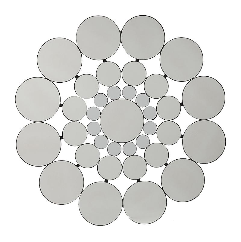 Зеркало AlmaharaЗеркала<br>Оригинальное зеркало способно создать <br>хорошее настроение, новое впечатление, <br>подчеркнуть или полностью изменить интерьер <br>вашего дома. Зеркало Almahara состоит из множества <br>зеркальных кружочков разного размера, что <br>придает ему необычный ажурный вид. Несомненно, <br>оно замечательно впишется в интерьер вашего <br>дома. Украсьте его!<br><br>Цвет: Зеркальный<br>Материал: МДФ, Зеркало<br>Вес кг: 8,5<br>Длина см: 79<br>Ширина см: 3<br>Высота см: 79