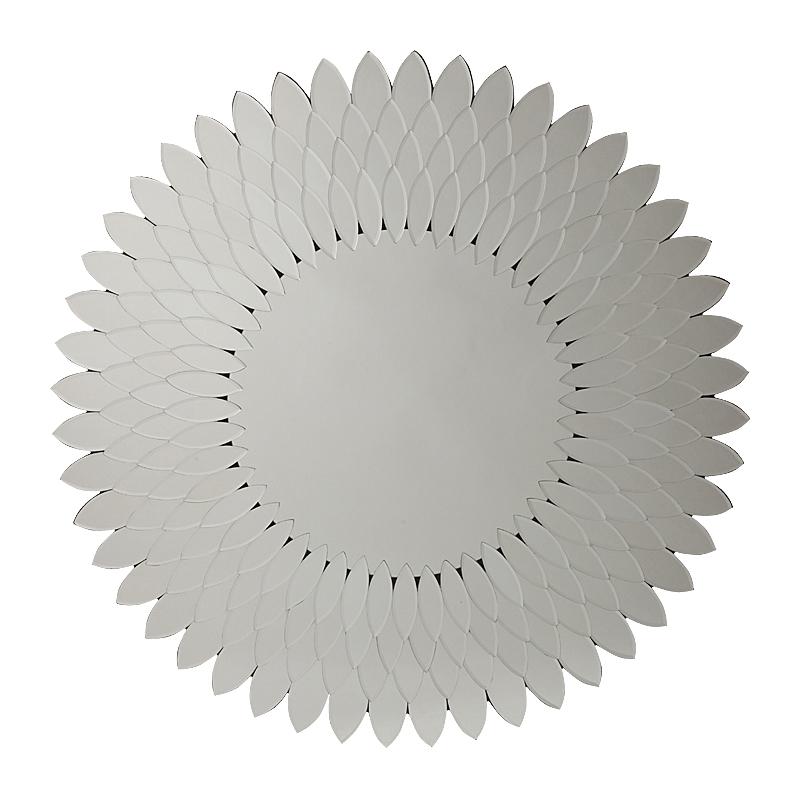 Зеркало Livian, DG-D-MR86  Оригинальное зеркало способно создать  хорошее настроение, новое впечатление,  подчеркнуть или полностью изменить интерьер  вашего дома. Зеркало Livian обрамлено множеством  лепестков, придающих ему вид подсолнуха,  за счет чего оно выглядит очень нарядно.  Несомненно, оно замечательно впишется в  интерьер вашего дома. Добавьте в него новый  яркий штрих.