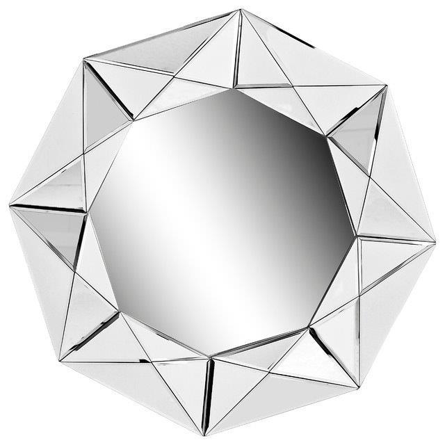 Зеркало BromoЗеркала<br>Оригинальное зеркало способно создать <br>хорошее настроение, новое впечатление, <br>подчеркнуть или полностью изменить интерьер <br>вашего дома. Зеркало Bromo вставлено в раму <br>из объемных многогранников, за счет чего <br>оно выглядит очень богато. Безусловно, этот <br>«бриллиант» станет украшением интерьера <br>вашего дома. Добавьте в него новый яркий <br>штрих.<br><br>Цвет: Серебро<br>Материал: МДФ, Зеркало<br>Вес кг: 11<br>Длина см: 81<br>Ширина см: 1<br>Высота см: 81