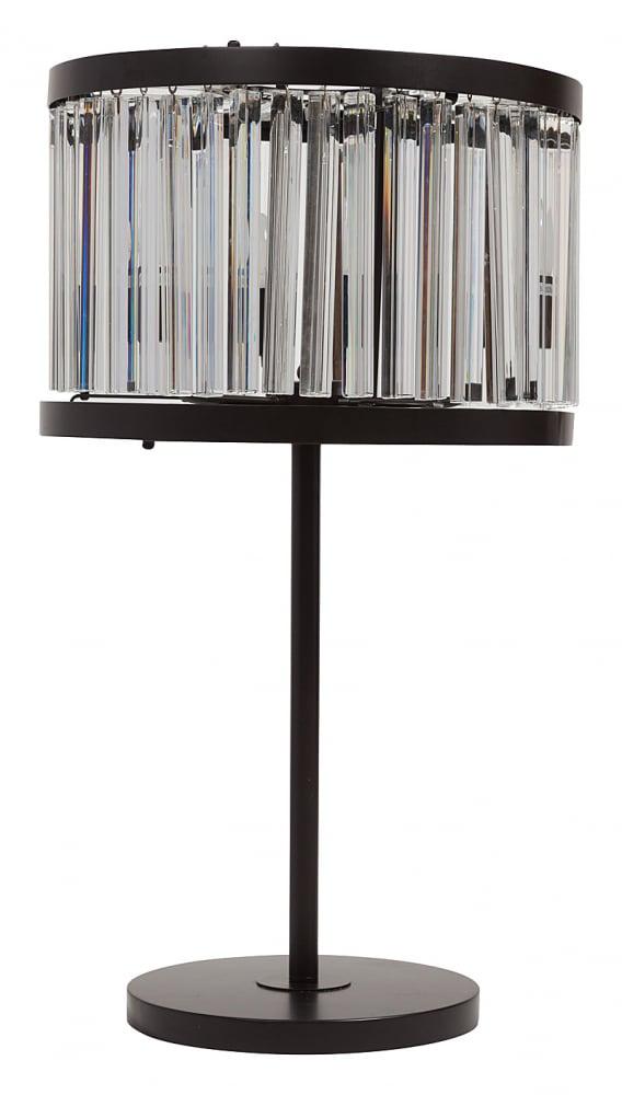 Настольная лампа WellesНастольные лампы<br>Настольная лампа WELLES для успешных и уверенных <br>людей. Она уместна в кабинете или в гостиной. <br>Эффектна и самодостаточна как в одиночестве, <br>так и в паре при симметричной расстановке. <br>Настольная лампа с основанием из металла <br>и крупными хрустальными подвесками трехгранной <br>формы. Примечательно, что хрустальные детали <br>располагаются в самом верху изделия по <br>кругу, а также с самого низа абажура, как <br>бы закрывая весь плафон сверху и снизу. <br>Подвесы с фронтальной стороны по всему <br>кругу зафиксированы только сверху, что <br>вносит в изделие легкую динамичность. Предназначена <br>для использования со светодиодными лампами.<br><br>Цвет: Чёрный, Прозрачный<br>Материал: Металл, Хрусталь<br>Вес кг: 3,1<br>Длина см: 45<br>Ширина см: 45<br>Высота см: 86