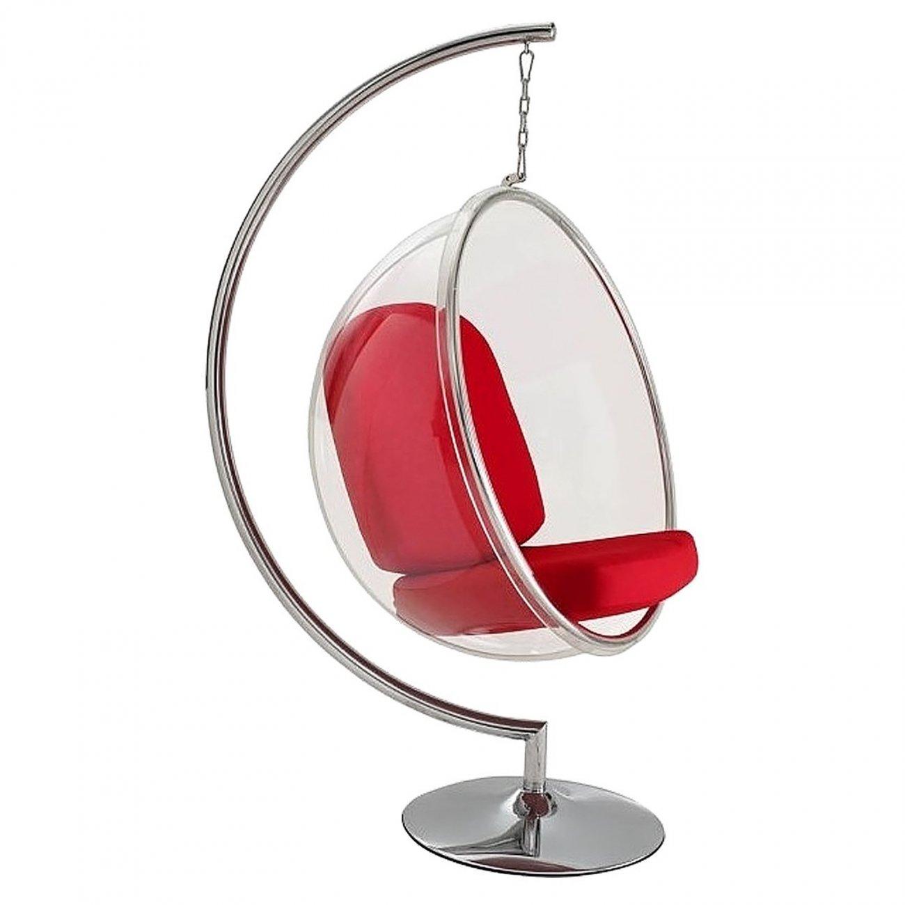 Купить Кресло Bubble Chair with Stand Красная Экокожа в интернет магазине дизайнерской мебели и аксессуаров для дома и дачи
