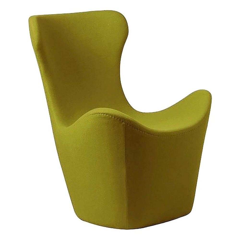 Фото Кресло Papilio Lounge Chair Оливковое Кашемир. Купить с доставкой