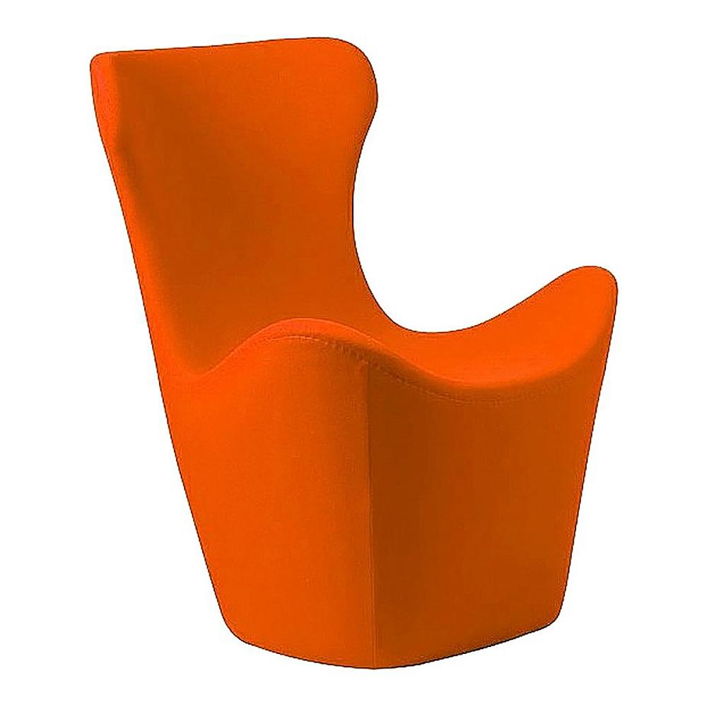 Кресло Papilio Lounge Chair Оранжевое КашемирКресла<br>Изысканное кресло PAPILIO LOUNGE CHAIR от японского <br>дизайнера Наото Фукасава невероятно комфортабельно: <br>его высокая спинка с подголовником так <br>и манит облокотиться на нее и отдохнуть. <br>Обивка кресла изготовлена из натурального <br>кашемира оранжевого цвета, поэтому кресло <br>согреет в холодную погоду и останется прохладным <br>на ощупь в жару. Оно прекрасно подойдет <br>для интерьера в современном стиле.<br><br>Цвет: Оранжевый<br>Материал: Кашемир, Поролон, Дерево<br>Вес кг: 32<br>Длина см: 83<br>Ширина см: 82<br>Высота см: 103