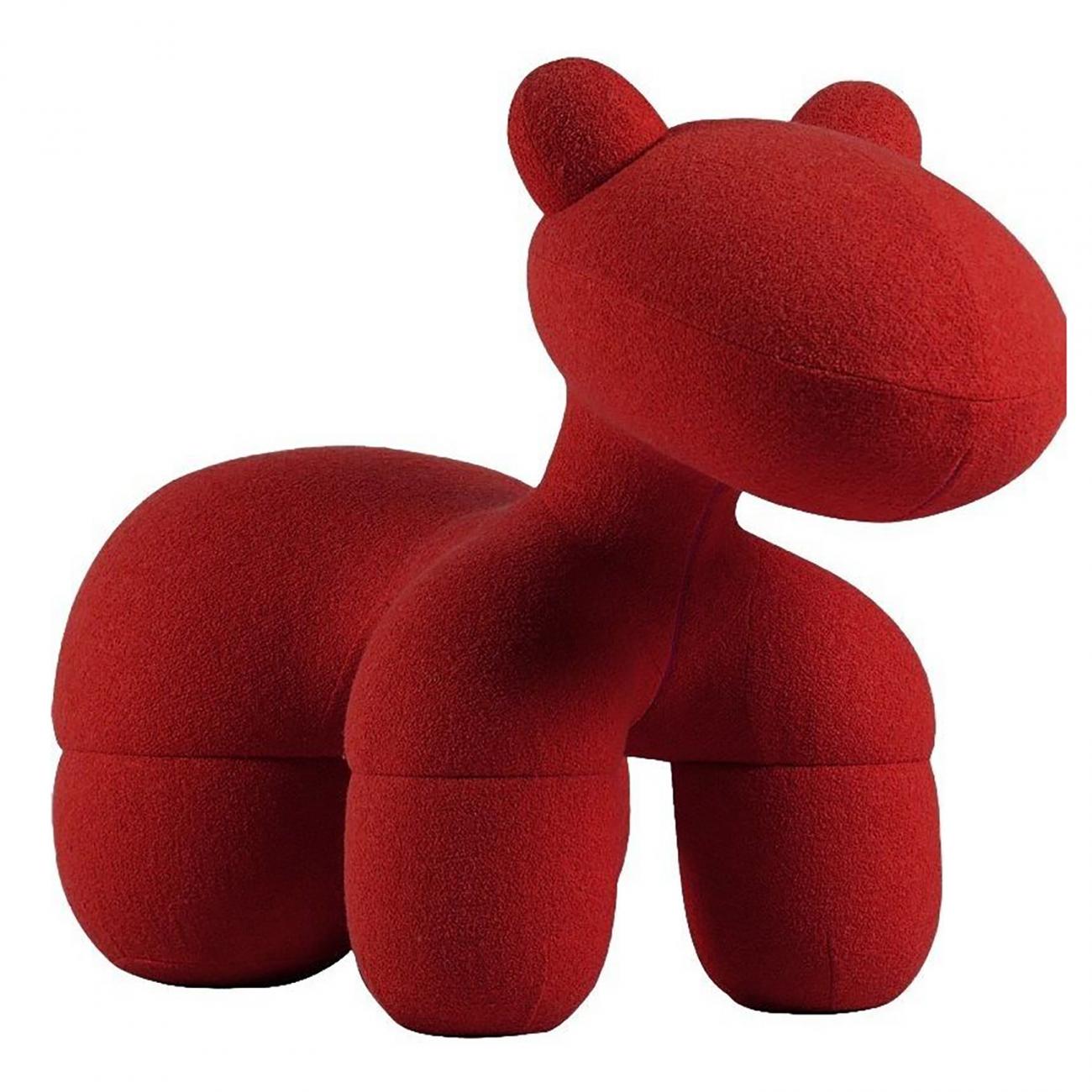 Купить Детское кресло Pony Chair Красное Шерсть в интернет магазине дизайнерской мебели и аксессуаров для дома и дачи