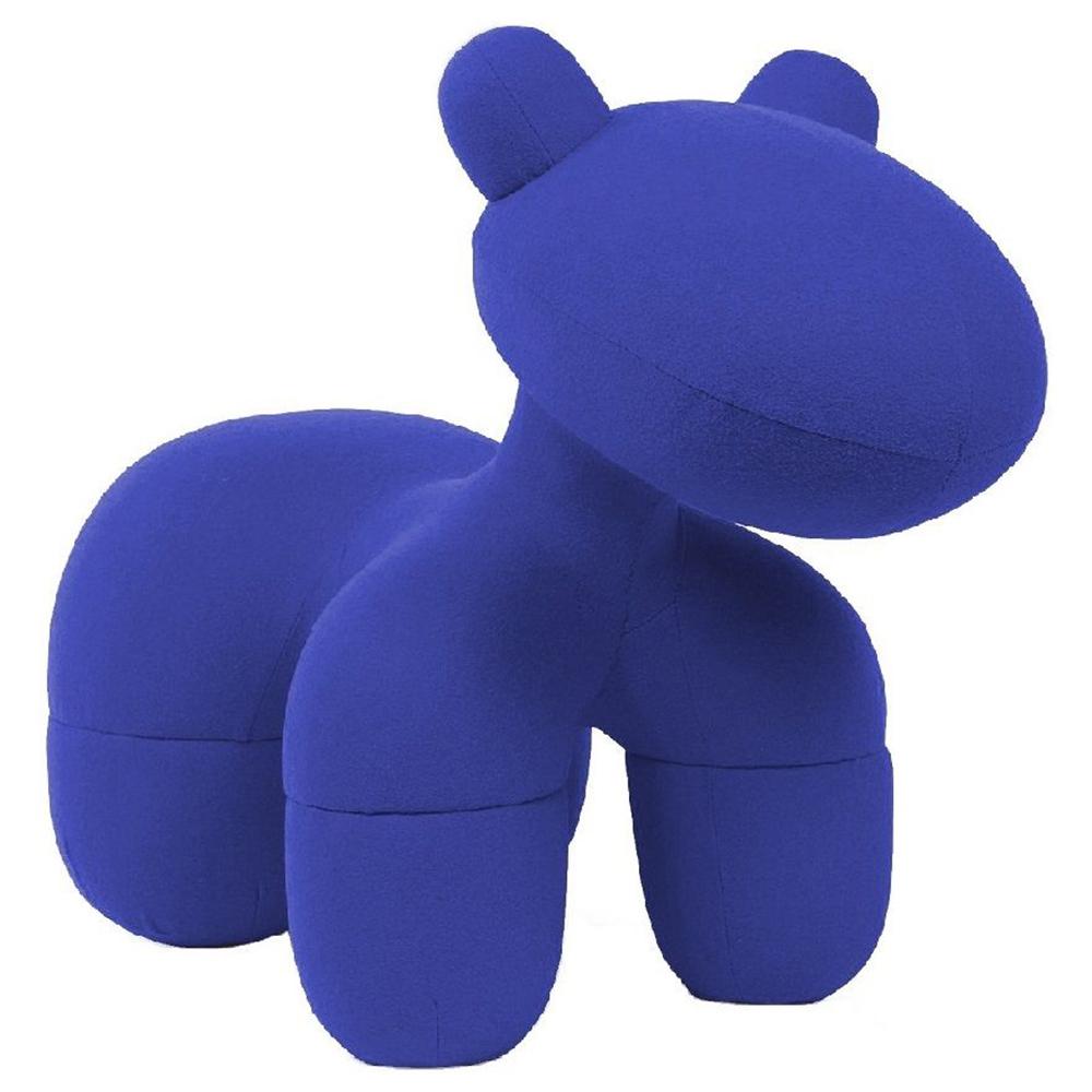 Купить Детское кресло Pony Chair Темно-синее Шерсть в интернет магазине дизайнерской мебели и аксессуаров для дома и дачи