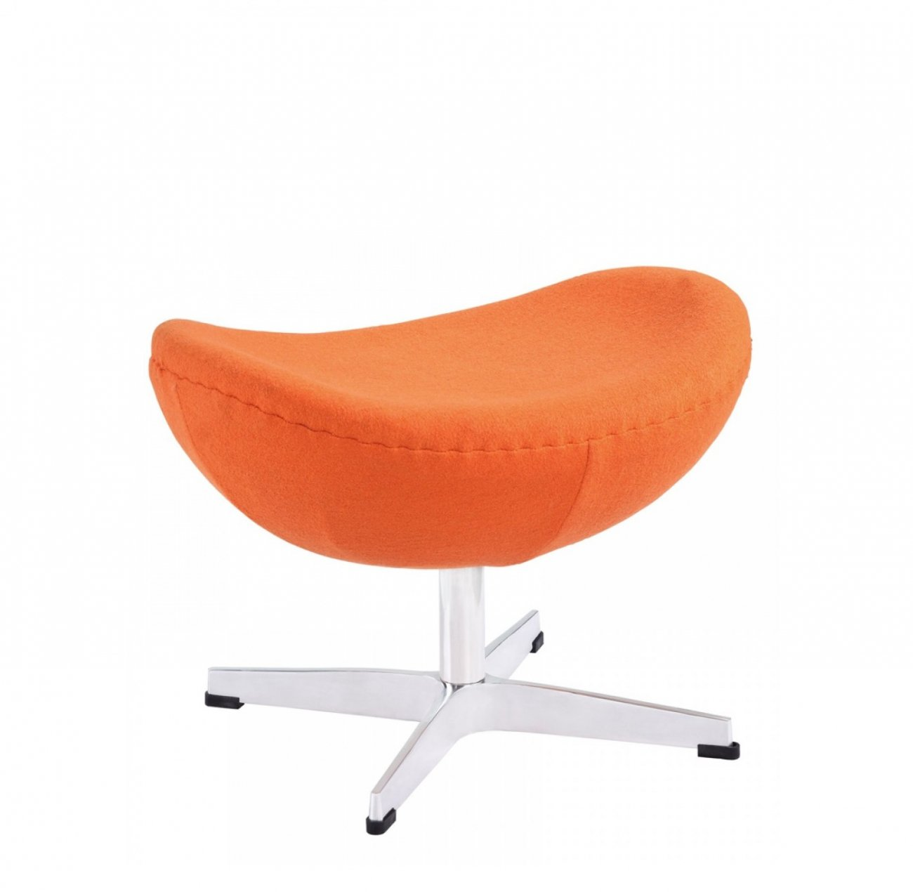 Купить Оттоманка Egg Ottoman Оранжевая 100% Кашемир в интернет магазине дизайнерской мебели и аксессуаров для дома и дачи
