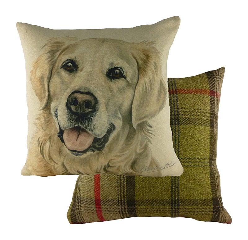 Купить Подушка с принтом Waggydogs Golden Retriever в интернет магазине дизайнерской мебели и аксессуаров для дома и дачи