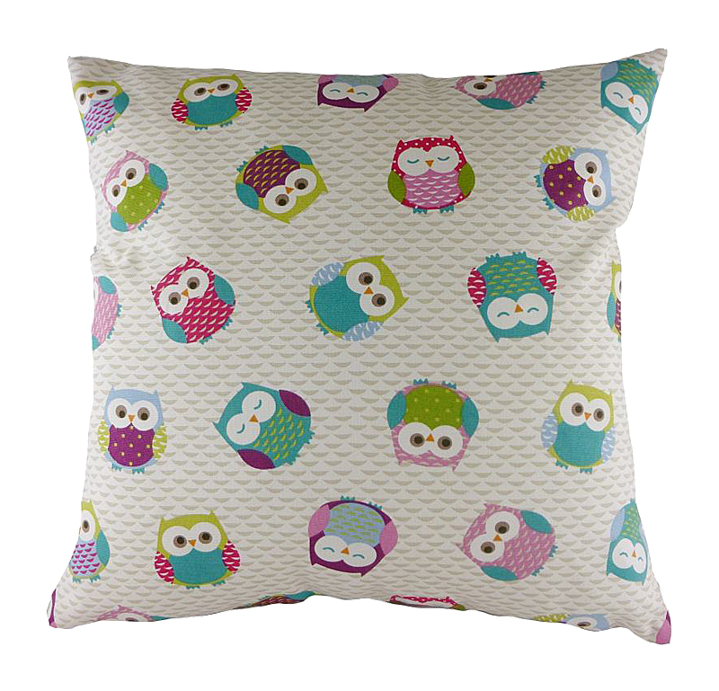 Подушка с принтом Owl Print Pink