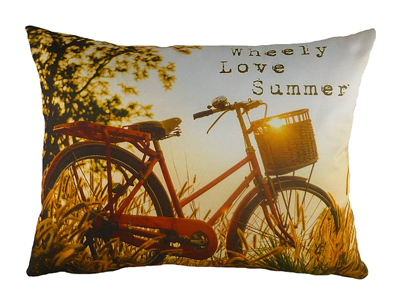 Подушка с принтом Wheely Love, DG-D-PL450 от DG-home