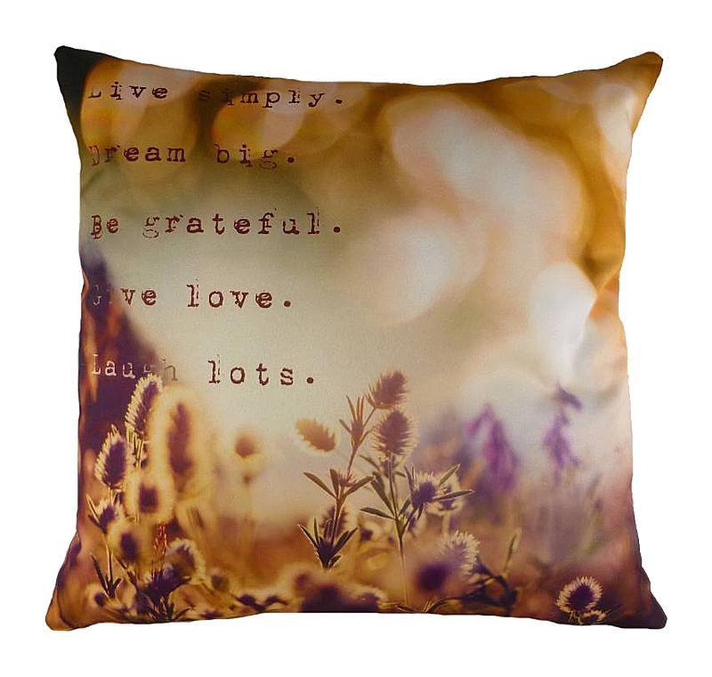 Подушка с принтом Dream BigПодушки<br>На нежной и мягкой подушке DREAM BIG из полиэстера <br>очень хорошо спится. Размытый акварельный <br>рисунок в горчично-фиолетовых тонах настраивает <br>на сладкие грезы, а слова Пауло Коэльо: «Live <br>simply. Dream big. Be grateful. Give love. Laugh lots.» (Жить просто. <br>Много мечтать. Быть благодарным. Дарить <br>любовь. Чаще смеяться.), написанные на подушке, <br>станут замечательным девизом жизни. Секрет <br>счастья так прост — теперь вы о нем не забудете.<br><br>Цвет: Оранжевый, Разноцветный<br>Материал: Полиэстер, Хлопок<br>Вес кг: 0,5<br>Длина см: 43<br>Ширина см: 43<br>Высота см: 6