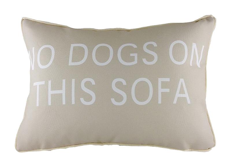 Подушка с надписью No Dogs on This Sofa