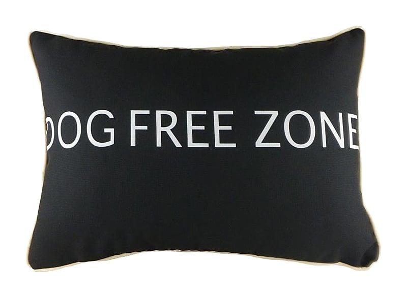 Подушка с надписью Dog Free Zone, DG-D-PL465