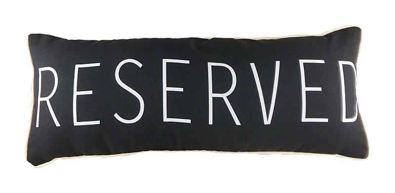 Купить Подушка с надписью Reserved в интернет магазине дизайнерской мебели и аксессуаров для дома и дачи