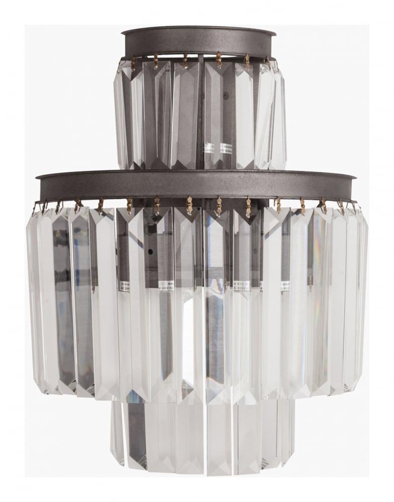Настенный светильник Saliel Piccolo DG-HOME Современный настенный светильник SALIEL,  благодаря своей форме, создает оригинальное  рассеивание света. Дизайн светильников  коллекции SALIEL поразит воображение самого  искушенного зрителя. Материалы высокого  качества (никелированный металл, хрустальные  подвески), безупречное исполнение и оригинальное  стилевое решение светильника Saliel помогут  вам выразить собственное представление  о прекрасном и создать уникальный и интересный  интерьер. Приобретенные в нашем интернет-магазине  настенные светильники станут прекрасным  дополнением к люстре из коллекции Saliel.