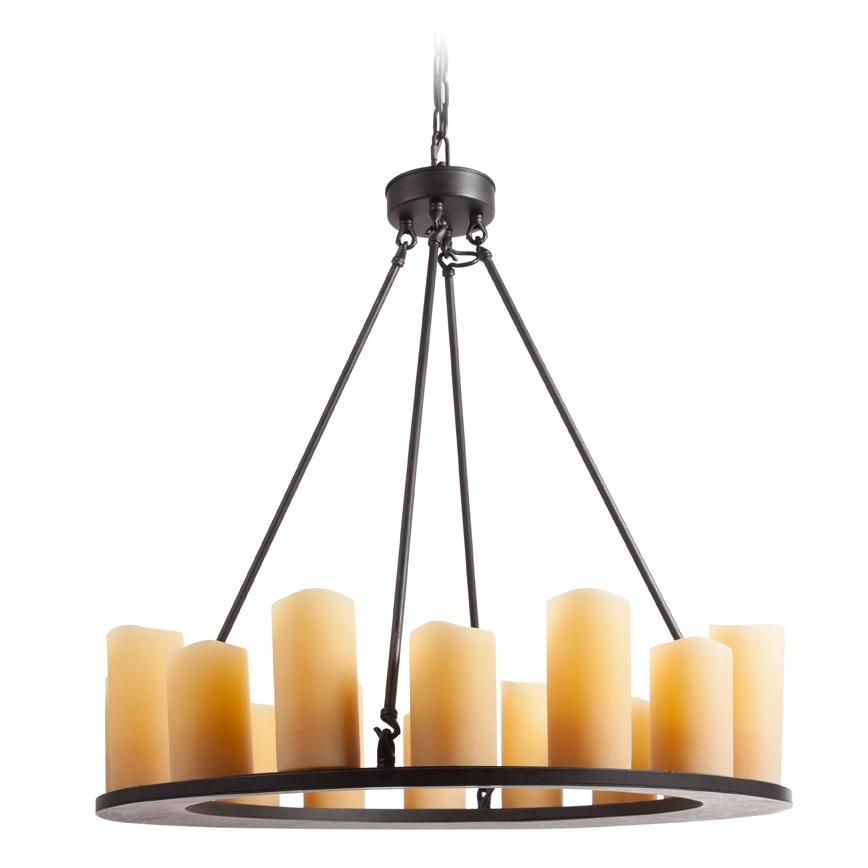 Люстра Pillar Candle, DG-LL186Люстры<br>Плафоны на люстре PILLAR CANDLE стилизованы под свечи разной формы и размера. Основание отлито из металла и окрашено в бронзовый цвет. Оно подвешивается при помощи четырех спицеобразных крепежей, идущих к потолочной розетке. Вся проводка искусно скрыта внутри металлических деталей. Люстра PILLAR CANDLE идеально впишется над обеденным столом и подарит приятную душевную атмосферу.<br>Плафоны из полирезина.<br>Используются лампы свечкообразной формы 15W max (не входят в комплект).<br>Люстра предназначена для использования только в сухих помещениях.<br>Подключается к электрической сети через скрытую в потолке проводку.<br>Возможно подключение диммера.<br>Требуется сборка.<br>Упаковано в 2 коробки размерами 95*90*18 см и 46*46*25 см.<br><br>Цвет: Бронза, Бежевый<br>Материал: Металл, Полирезин<br>Вес кг: 25.8<br>Длинна см: 141<br>Ширина см: 136<br>Высота см: 43