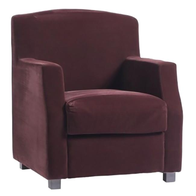 Кресло Lloyd ФиолетовоеКресла<br>Стильное и эффектное кресло Lloyd, выполненное <br>в стиле арт-деко 60-х, когда в интерьере преобладали <br>геометрические фигуры, завораживает простотой <br>форм и повторяющимся геометрическим мотивом. <br>Надежным основанием и одновременно удобными <br>подлокотниками служат две прямоугольные <br>рамы, к которым крепятся мягкое квадратное <br>сидение и прямоугольная спинка, обтянутые <br>коричневой велюровой тканью. Глубина со <br>спинкой 70 см. Это кресло станет удачным <br>дополнением любого интерьера, как классического, <br>так и современного, подарит истинное наслаждение <br>покоем и уютом.<br><br>Цвет: фиолетовый<br>Материал: Ткань, Дерево<br>Вес кг: 50<br>Длина см: 75<br>Ширина см: 70<br>Высота см: 89