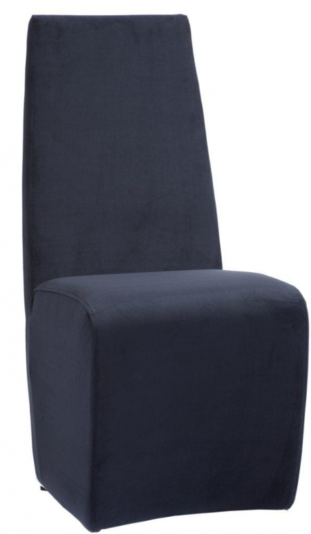 Стул James Синий ЗамшаСтулья<br>Этот оригинальный стул выглядит единым <br>монолитом. Высокая слегка изогнутая спинка <br>из синей замши плавно переходит в мягкое <br>сидение, напоминающее куб с закругленными <br>краями. В дизайне стула James удивительно <br>гармонично сочетаются необычная форма <br>изделия, спинка, идеально поддерживающая <br>тело, строгость формы и продуманная функциональность, <br>что позволяет создать неповторимый интерьер <br>вашего дома. Съемный чехол позволяет быстро <br>привести его в порядок или даже просто поменять <br>цвет кресла, если вам захочется другой расцветки.<br><br>Цвет: Синий<br>Материал: Дерево, Ткань, Поролон<br>Вес кг: 5<br>Длина см: 45<br>Ширина см: 60<br>Высота см: 100