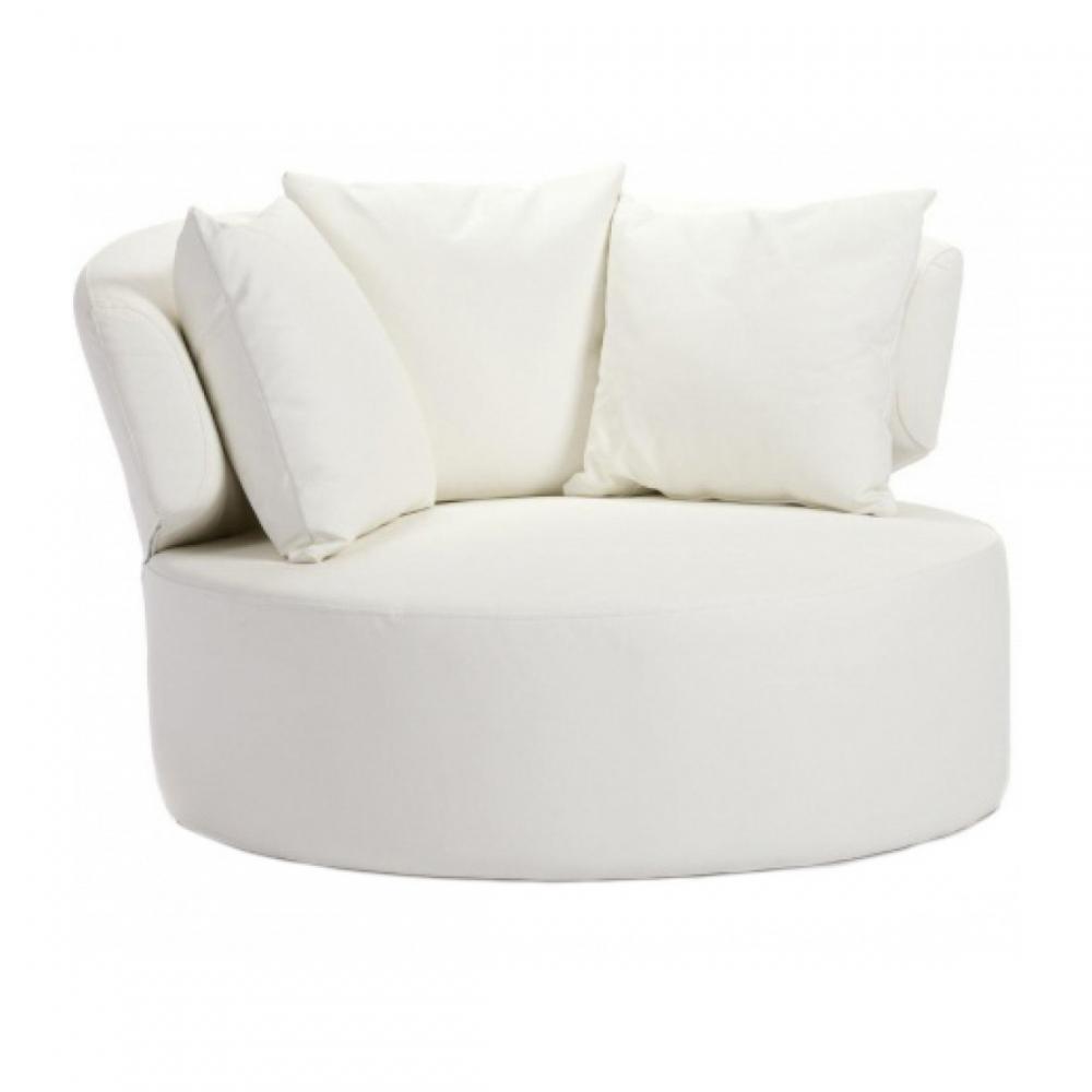 Кресло Beverly Белая ЭкокожаКресла<br><br><br>Цвет: Белый<br>Материал: МДФ, Экокожа, Поролон, Металл<br>Вес кг: 48<br>Длина см: 100<br>Ширина см: 100<br>Высота см: 72
