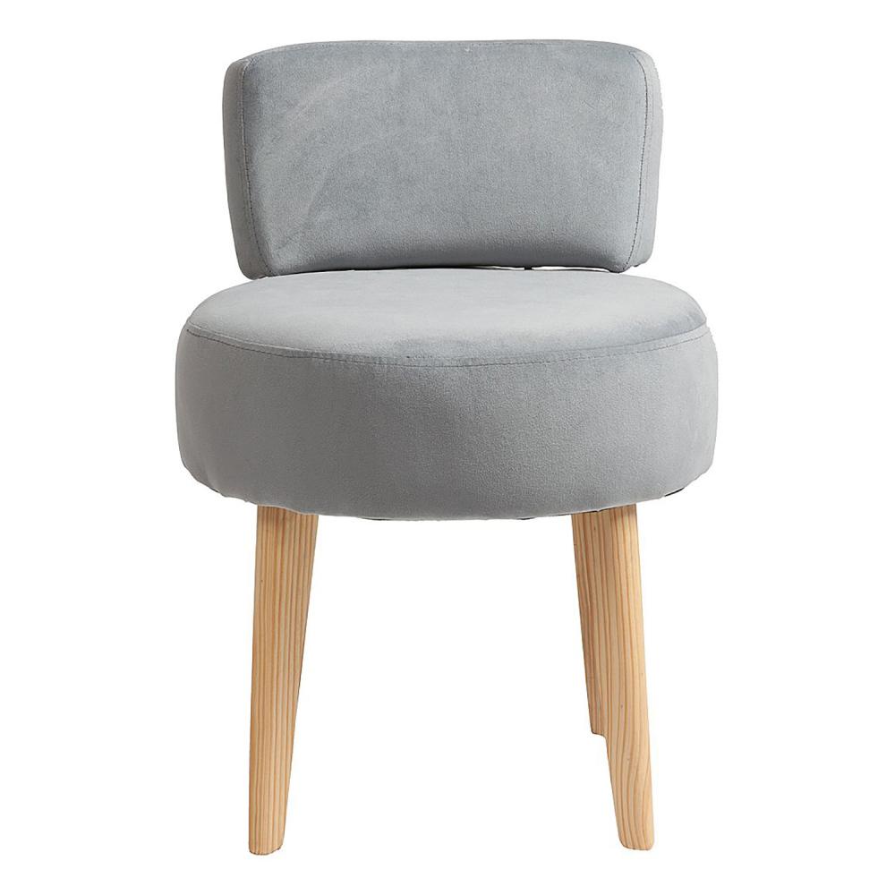 Стул Lordinio СерыйСтулья<br>Оригинальная форма этого стула — в виде <br>табурета с мягкими круглым сидением и спинкой <br>на точеных конических ножках — не может <br>не привлечь внимание. Интересный и современный <br>стул Lordinio предлагается в нескольких цветовых <br>решениях, выбрав нужную обивку сиденья <br>из полиэстера, вы можете создать гармоничную <br>композицию в кухне или столовой, которая <br>станет эстетическим дополнением и будет <br>радовать её обитателей. Да и на мягком стуле <br>намного удобней сидеть. Оригинальные, комфортабельные, <br>стильные стулья сделают ваш интерьер особенно <br>уютным и привлекательным, а наши справедливые <br>цены непременно порадуют семейный бюджет.<br><br>Цвет: Серый<br>Материал: Ткань, Дерево, Поролон<br>Вес кг: 5<br>Длина см: 45<br>Ширина см: 45<br>Высота см: 65