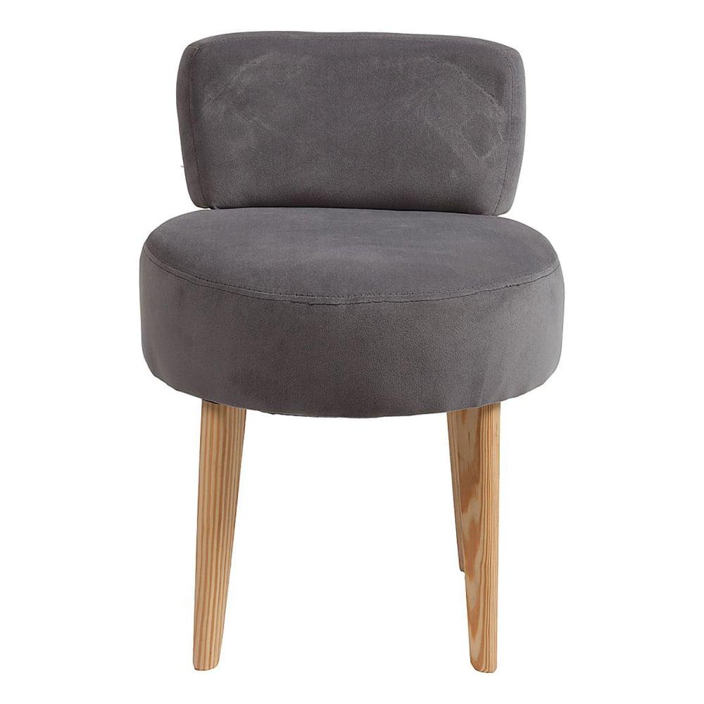 Стул Lordinio Темно-серыйСтулья<br>Оригинальная форма этого стула — в виде <br>табурета с мягкими круглым сидением и спинкой <br>на точеных конических ножках — не может <br>не привлечь внимание. Интересный и современный <br>стул Lordinio предлагается в нескольких цветовых <br>решениях, выбрав нужную обивку сиденья <br>из полиэстера, вы можете создать гармоничную <br>композицию в кухне или столовой, которая <br>станет эстетическим дополнением и будет <br>радовать её обитателей. Да и на мягком стуле <br>намного удобней сидеть. Оригинальные, комфортабельные, <br>стильные стулья сделают ваш интерьер особенно <br>уютным и привлекательным, а наши справедливые <br>цены непременно порадуют семейный бюджет.<br><br>Цвет: Серый<br>Материал: Ткань, Дерево, Поролон<br>Вес кг: 5<br>Длина см: 45<br>Ширина см: 45<br>Высота см: 66