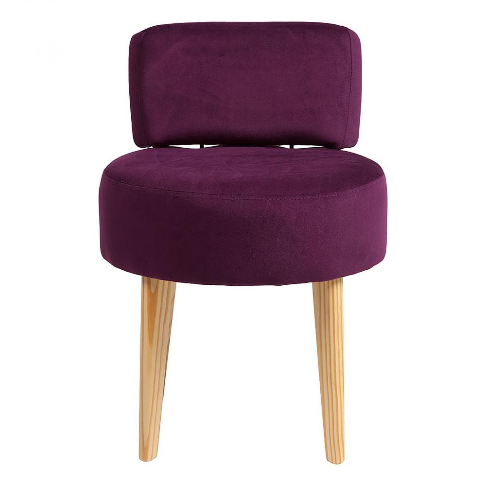 Стул Lordinio ФиолетовыйСтулья<br>Оригинальная форма этого стула — в виде <br>табурета с мягкими круглым сидением и спинкой <br>на точеных конических ножках — не может <br>не привлечь внимание. Интересный и современный <br>стул Lordinio предлагается в нескольких цветовых <br>решениях, выбрав нужную обивку сиденья <br>из полиэстера, вы можете создать гармоничную <br>композицию в кухне или столовой, которая <br>станет эстетическим дополнением и будет <br>радовать её обитателей. Да и на мягком стуле <br>намного удобней сидеть. Оригинальные, комфортабельные, <br>стильные стулья сделают ваш интерьер особенно <br>уютным и привлекательным, а наши справедливые <br>цены непременно порадуют семейный бюджет.<br><br>Цвет: фиолетовый<br>Материал: Ткань, Дерево, Поролон<br>Вес кг: 5<br>Длина см: 45<br>Ширина см: 45<br>Высота см: 67