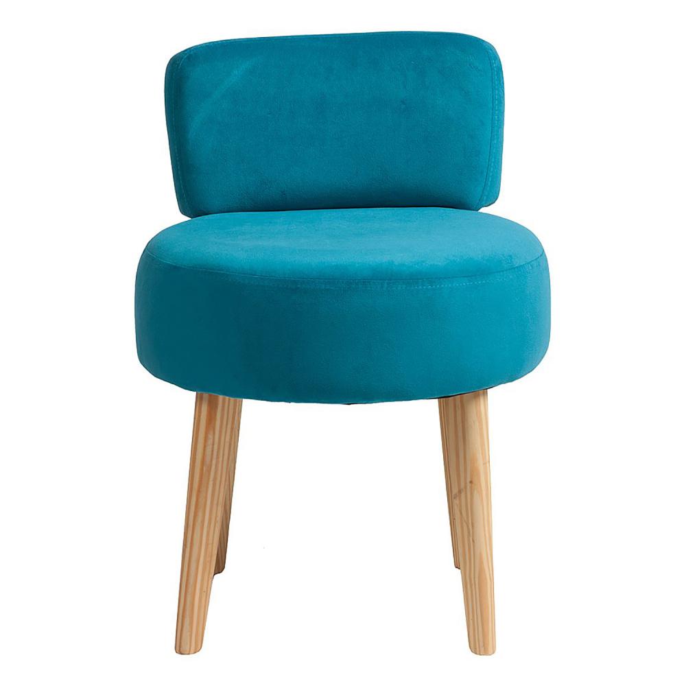Стул Lordinio Голубой, DG-F-CH579Стулья<br>Оригинальная форма этого стула — в виде табурета с мягкими круглым сидением и спинкой на точеных конических ножках — не может не привлечь внимание. <br>Интересный и современный стул Lordinio предлагается в нескольких цветовых решениях, выбрав нужную обивку сиденья из полиэстера, вы можете создать гармоничную композицию в кухне или столовой, которая станет эстетическим дополнением и будет радовать её обитателей. Да и на мягком стуле намного удобней сидеть.<br>Оригинальные, комфортабельные, стильные стулья сделают ваш интерьер особенно уютным и привлекательным, а наши справедливые цены непременно порадуют семейный бюджет.<br><br>Цвет: Голубой<br>Материал: Ткань, Дерево, Поролон<br>Вес кг: 5<br>Длинна см: 47<br>Ширина см: 47<br>Высота см: 73
