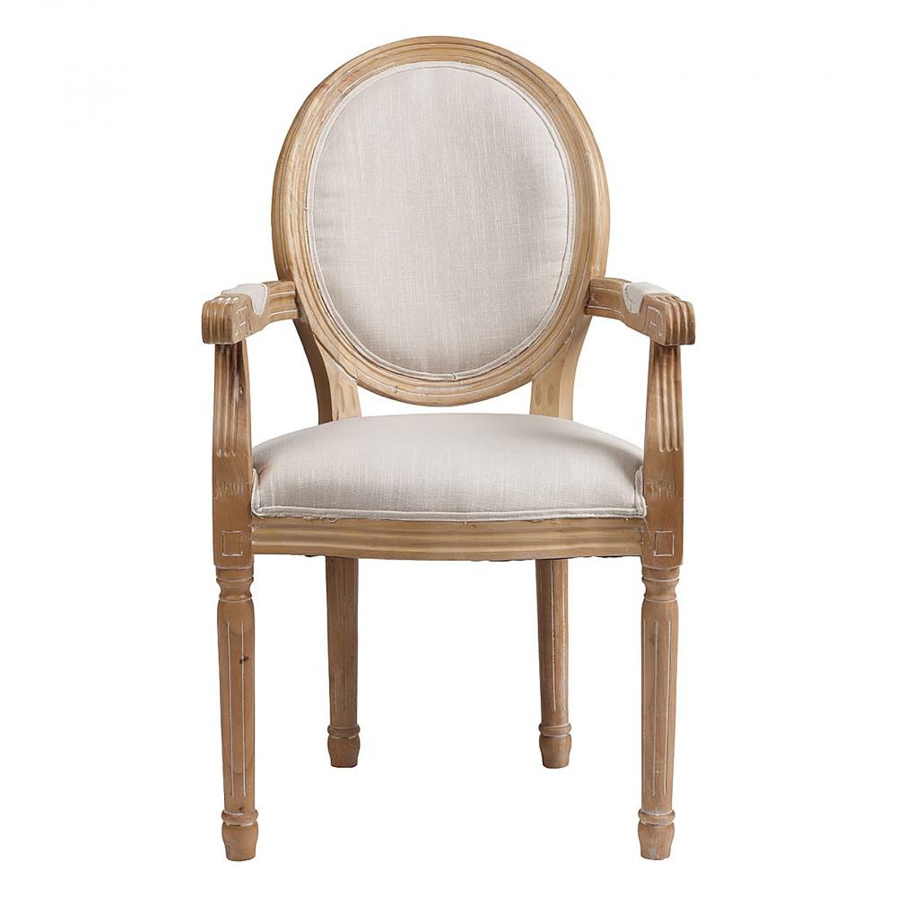 Кресло Pollina Белый ХлопокКресла<br>Красивое и удобное кресло Pollina выполнено <br>в классическом стиле из массива бука с подлокотниками. <br>Предназначено для домашнего и коммерческого <br>использования. Удобная выпуклая спинка <br>овальной формы, высокое и мягкое сидение, <br>изящно оформленные подлокотники. Для обивки <br>используются исключительно ткани высокого <br>качества — хлопок и полиэстер. Большой <br>выбор материалов обивки позволяет подобрать <br>необходимую для вашего интерьера цветовую <br>палитру. Резные элементы в сочетании с текстурной <br>обивкой подчеркивают во внешнем виде модели <br>яркость и выразительность. Купите кресло <br>Pollina — оно будет замечательно смотреться <br>в личном кабинете, в зале и даже в прихожей.<br><br>Цвет: Белый<br>Материал: Ткань, Дерево, Поролон<br>Вес кг: 8<br>Длина см: 55<br>Ширина см: 60<br>Высота см: 96