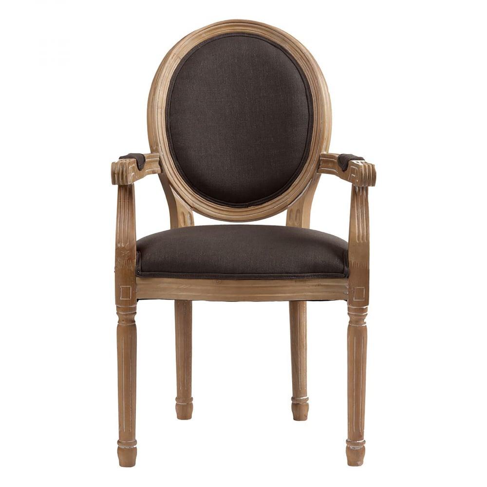 Кресло Pollina Серый ХлопокКресла<br>Красивое и удобное кресло Pollina выполнено <br>в классическом стиле из массива бука с подлокотниками. <br>Предназначено для домашнего и коммерческого <br>использования. Удобная выпуклая спинка <br>овальной формы, высокое и мягкое сидение, <br>изящно оформленные подлокотники. Для обивки <br>используются исключительно ткани высокого <br>качества — хлопок и полиэстер. Большой <br>выбор материалов обивки позволяет подобрать <br>необходимую для вашего интерьера цветовую <br>палитру. Резные элементы в сочетании с текстурной <br>обивкой подчеркивают во внешнем виде модели <br>яркость и выразительность. Купите кресло <br>Pollina — оно будет замечательно смотреться <br>в личном кабинете, в зале и даже в прихожей.<br><br>Цвет: Серый<br>Материал: Ткань, Дерево, Поролон<br>Вес кг: 8<br>Длина см: 55<br>Ширина см: 60<br>Высота см: 96