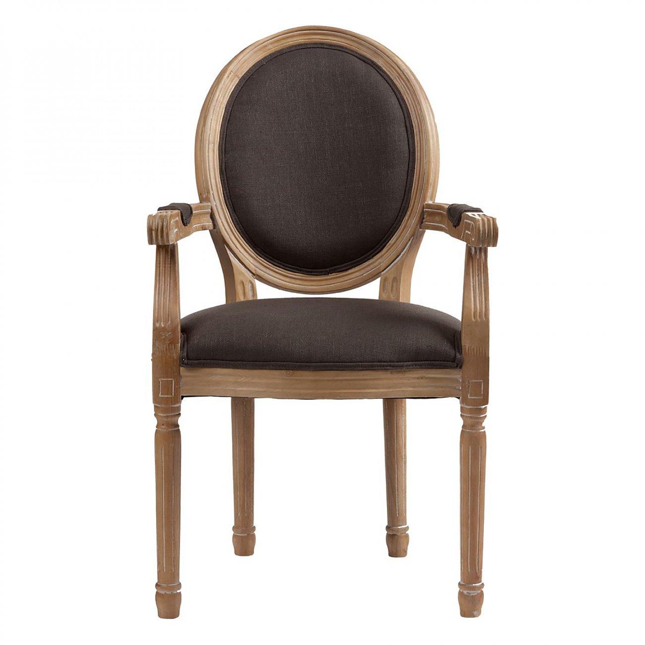 Купить Кресло Pollina Серый Хлопок в интернет магазине дизайнерской мебели и аксессуаров для дома и дачи