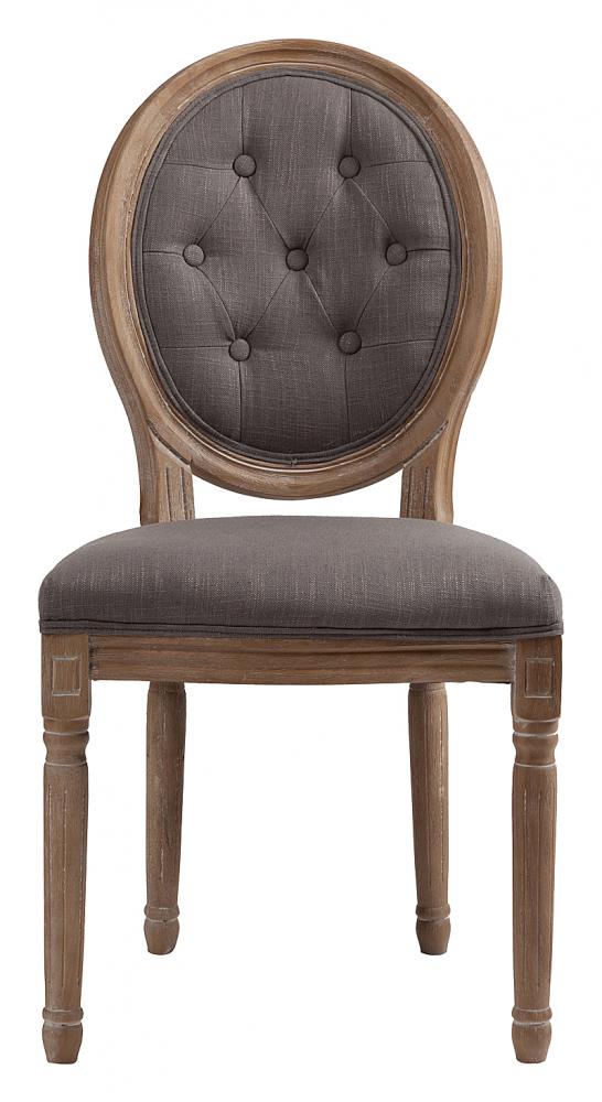 Стул Maurice Серый Лен DG-HOME Стул Maurice — модель без подлокотников, в  классическом стиле, предназначена для столовой  или кабинета. Стул на деревянном каркасе  с округлой спинкой. Возможны различные  варианты отделки и обивки (хлопок, лен).  Купите стулья Maurice для всей семьи — они  непременно понравятся всем.