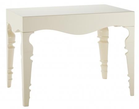 Прикроватный стол Paloma Белый Лак DG-HOME Элегантный прикроватный столик Paloma белого  цвета с простой прямоугольной столешницей  из МДФ и резными изящными ножками представляет  собой удивительное сочетание минимализма  и строгой утонченной красоты.