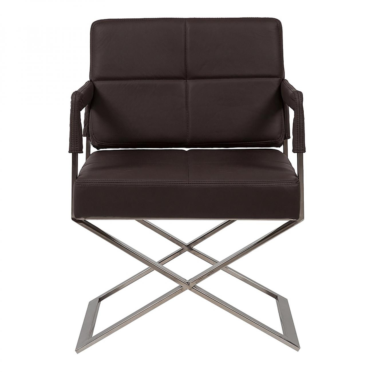 Купить Кресло Aster X Chair Темно-коричневая Кожа Класса Премиум в интернет магазине дизайнерской мебели и аксессуаров для дома и дачи