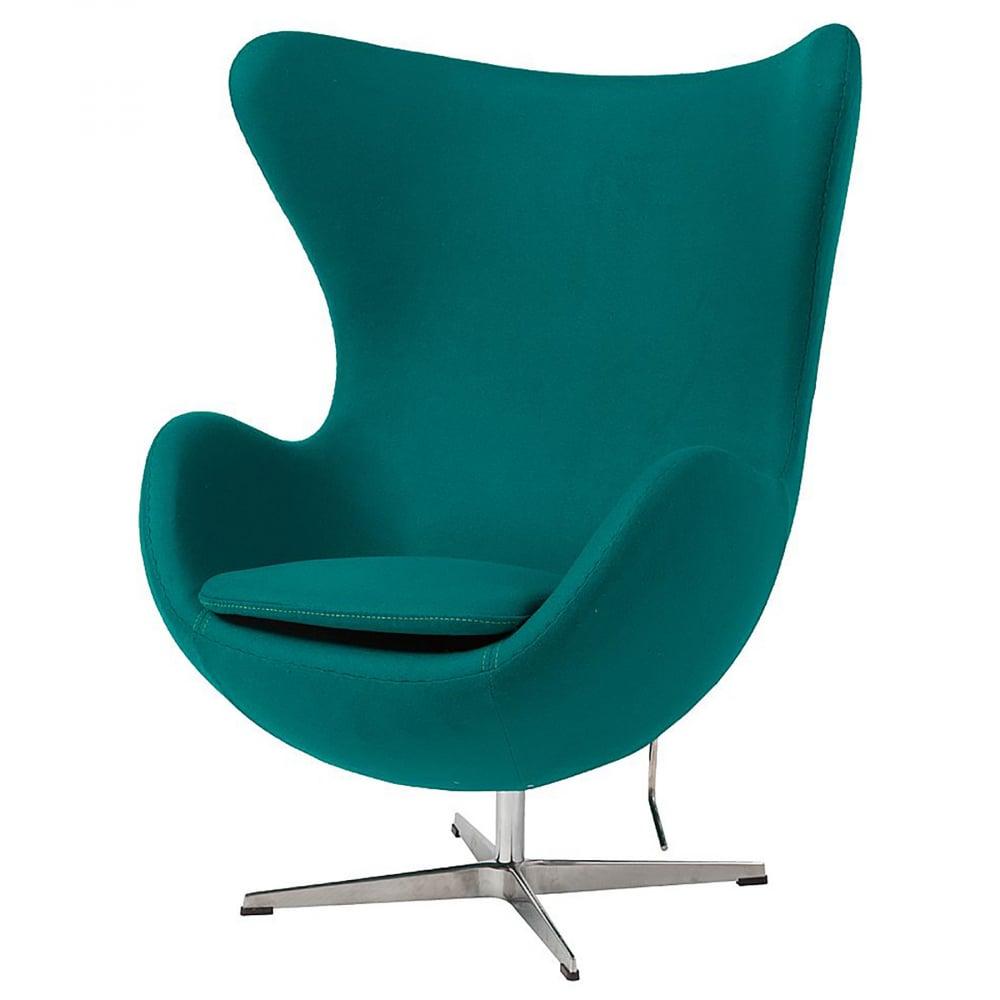 Фото Кресло Egg Chair Изумрудное 100% Кашемир. Купить с доставкой