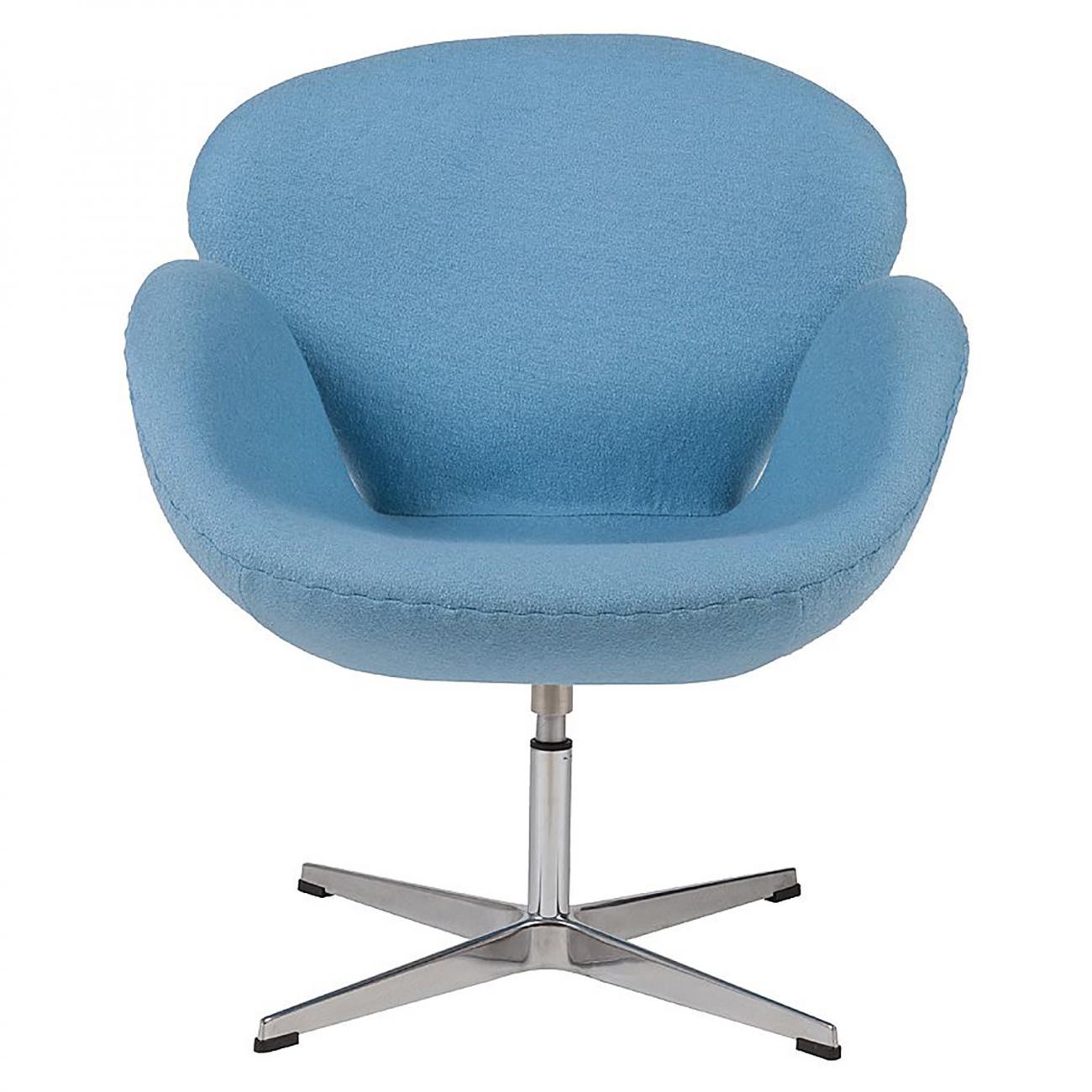 Купить Кресло Swan Chair Голубая Шерсть в интернет магазине дизайнерской мебели и аксессуаров для дома и дачи