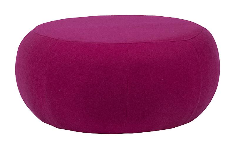 Пуф Pix Темно-розовая Шерсть