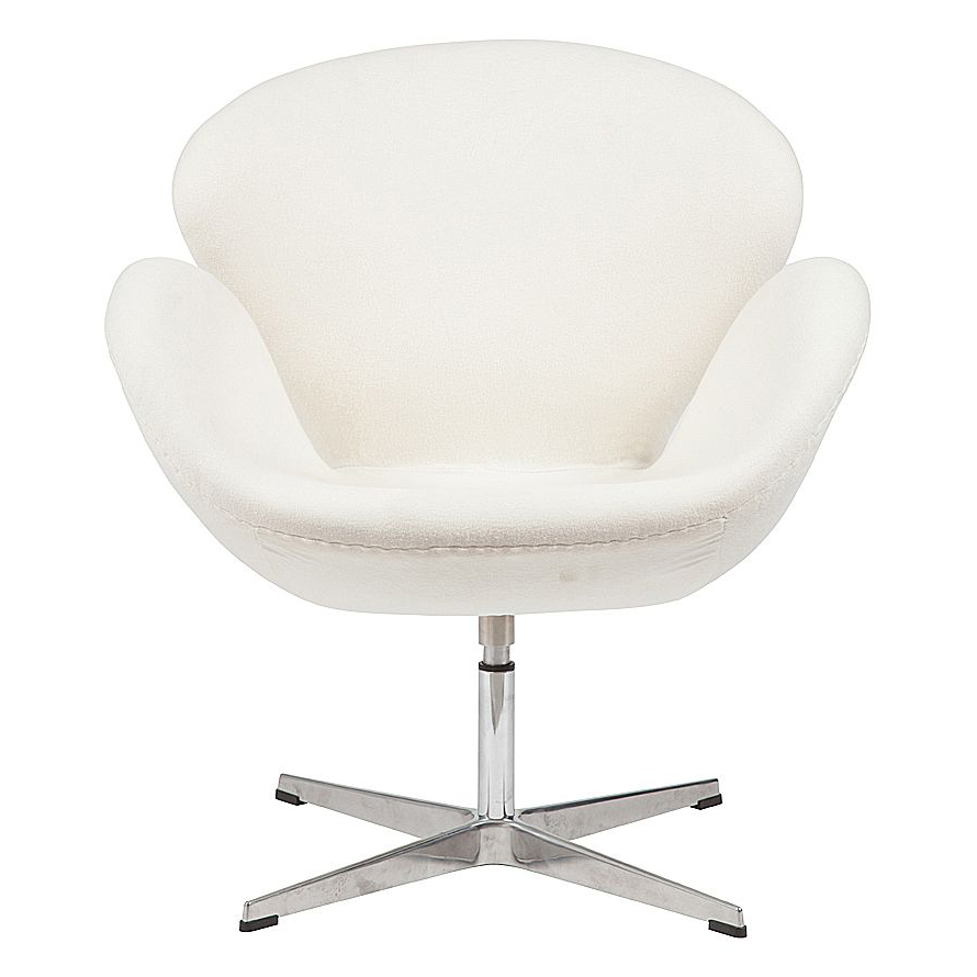 Кресло Swan Chair Бежевый КашемирКресла<br>Кресло Swan Chair (Лебедь), созданное датским <br>дизайнером Арне Якобсеном (Arne Jacobsen) в 1958 <br>г., стало настоящей сенсацией для своего <br>времени, было достаточно инновационным, <br>т.к. вместо прямых линий предпочтение было <br>отдано округлым формам. Мебель этого дизайнера <br>давно вошла в историю мебелестроения и <br>стало шедевром, мировым достоянием искусства. <br>Элегантная анатомическая форма и небольшие <br>размеры делают его привлекательным элементом <br>оформления любого интерьера и по сей день. <br>Небольшое, но очень уютное кресло смотрится <br>современно и украсит гостиную или рабочий <br>кабинет. Идеально сочетается с предметами <br>мебели в стиле хай-тек. Каркас кресла представляет <br>собой литую раковину из стекловолокна, <br>покрытую пенополиуретаном. Сидение крепится <br>на вращающемся крестообразном основании <br>из нержавеющей стали. Обивка кресла сделана <br>из шерстяной ткани бежевого цвета. В нашем <br>магазине можно приобрести отличную реплику <br>кресла Swan Chair в нескольких вариантах обивки.<br><br>Цвет: Бежевый<br>Материал: Кашемир, Металл<br>Вес кг: 25<br>Длина см: 71<br>Ширина см: 70<br>Высота см: 78