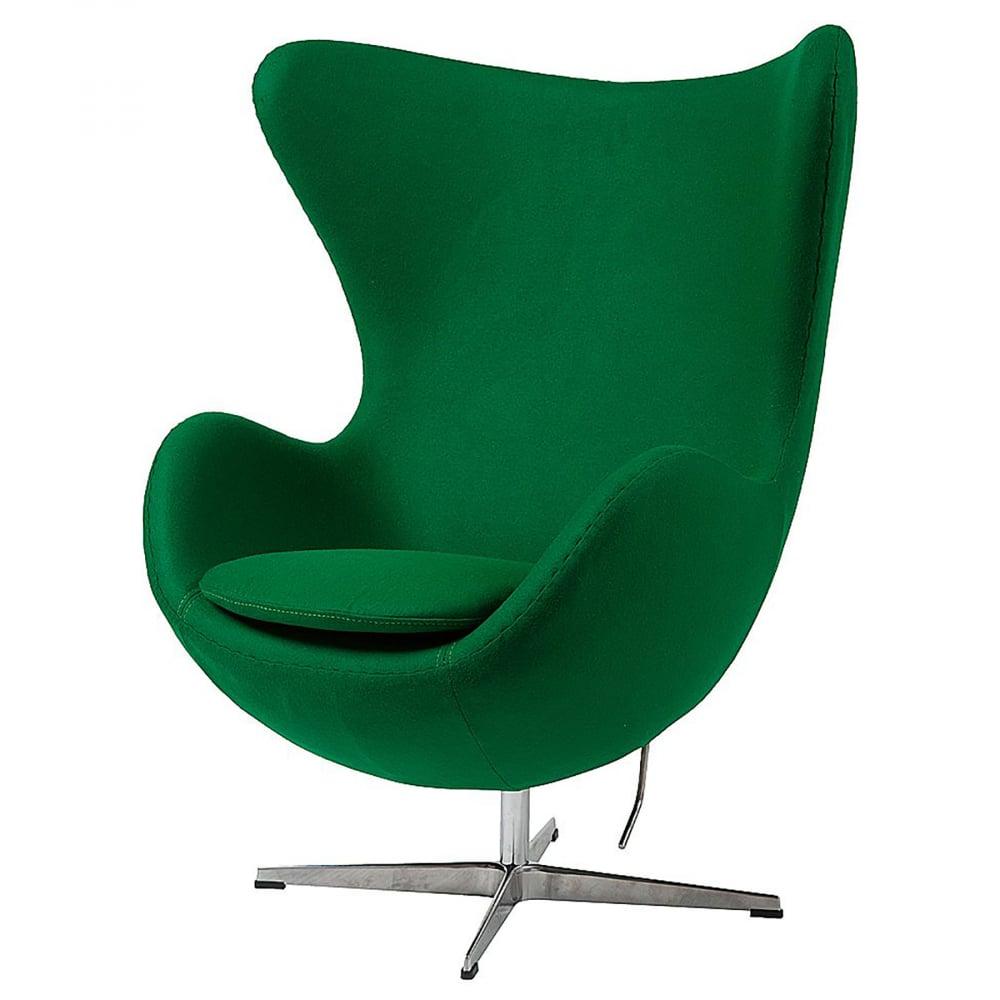 Фото Кресло Egg Chair Зелёное 100% Кашемир. Купить с доставкой
