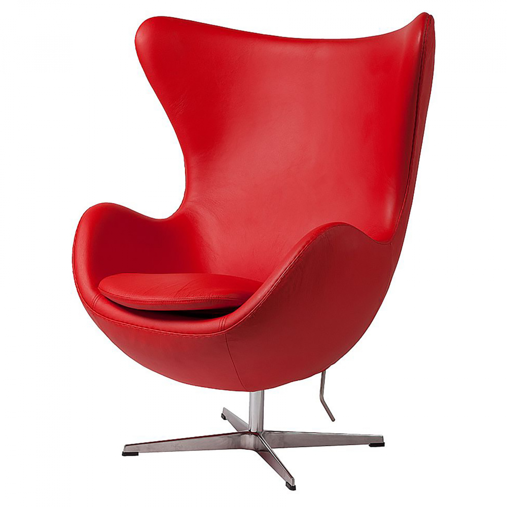 Кресло Egg Chair Красное Кожа Класса Премиум DG-HOME Кресло Egg Chair (Яйцо), созданное в 1958 году  датским дизайнером Арне Якобсеном, обладает  исключительной привлекательностью и узнаваемостью  во всем мире, занимает особое место в ряду  культовой дизайнерской мебели XX века. Оно  имеет экстравагантную форму и неординарное  исполнение, что позволило ему стать совершенным  воплощением классики нового времени. Кресло  Egg Chair, выполненное из натуральной кожи класса  Премиум красного цвета в форме яйца, подарит  огромное множество положительных эмоций  и заставляет обращать на него внимание.  Оно непременно задаёт основу для дизайна  того или иного помещения. Прочный и массивный  каркас из стекловолокна и ножка из нержавеющей  стали гарантируют долгий срок службы и  устойчивость. Данное кресло — это поистине  не стареющая классика в футуристическом  исполнении! Купите великолепную реплику  кресла Egg Chair — изготовленное из высококачественных  материалов, оно понравится многим любителям  нестандартного видения обыденных и, притом,  качественных вещей.