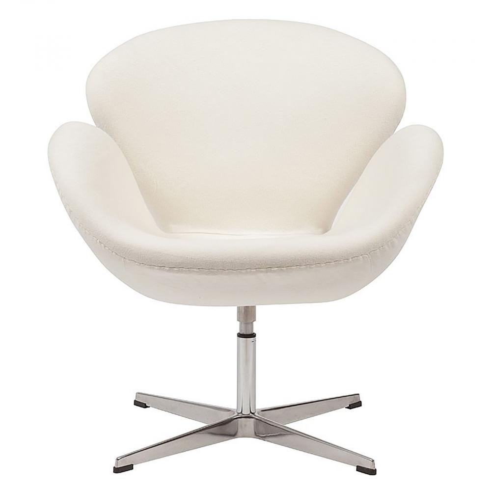 Фото Кресло Swan Chair Кремовая Шерсть. Купить с доставкой