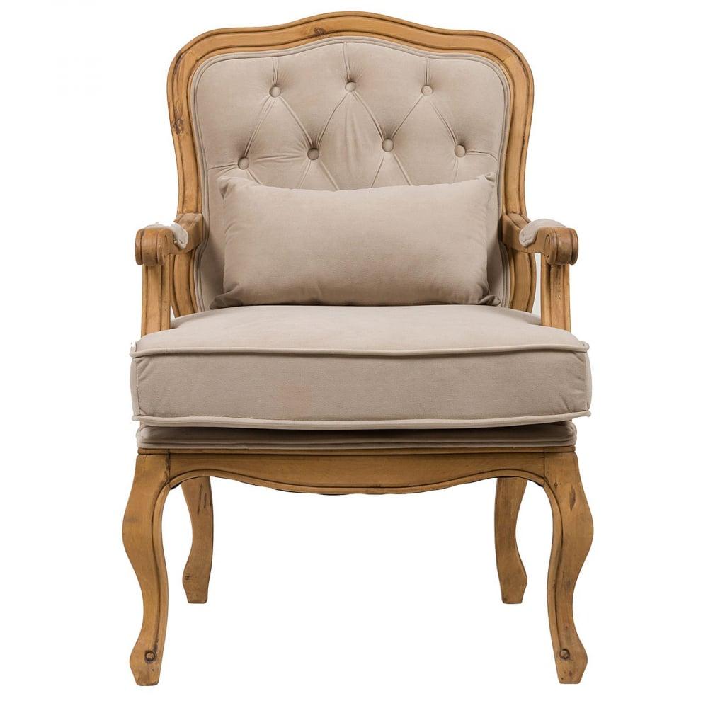 Кресло Belladonna Бежевый ВельветКресла<br>Роскошное кресло Bella Cera — прекрасное дополнение <br>к интерьеру в стиле в стиле Прованс. Резные <br>подлокотники и изогнутые ножки с эффектом <br>искусственного состаривания придают креслу <br>величественный образ, а вельветовая обивка <br>бежевого цвета подчеркивает его стиль и <br>красоту, уместные и в современном городском, <br>и в загородном доме. Мягкое сиденье и удобная <br>спинка кресла позволят вам в полной мере <br>насладиться времяпрепровождением в нем. <br>Купите его прямо сейчас!<br><br>Цвет: Бежевый<br>Материал: Ткань, Дерево, Поролон<br>Вес кг: 14<br>Длина см: 68<br>Ширина см: 68<br>Высота см: 95