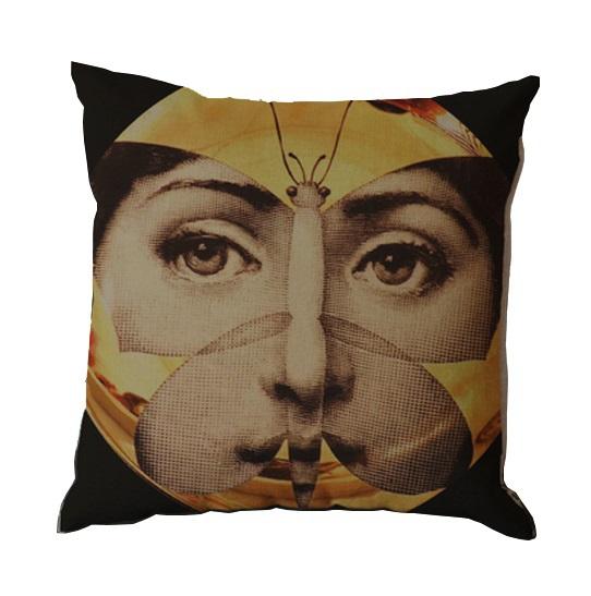 Подушка с портретом Лины Пьеро Форназетти Butterfly