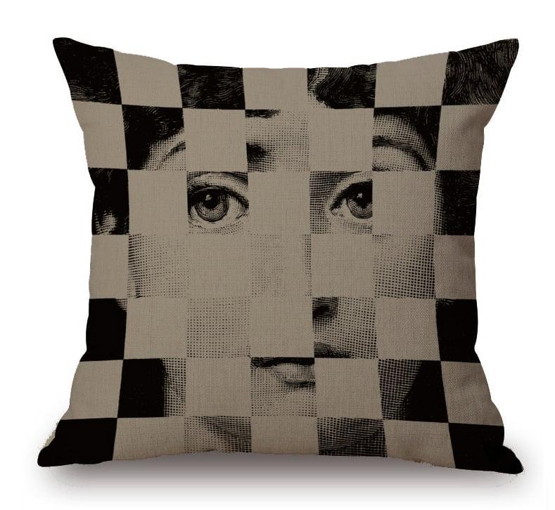 Подушка с портретом Лины Пьеро Форназетти Checker